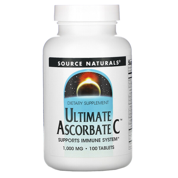 Source Naturals, Ultimate Ascorbate C, 1000 mg, 100 Tablets