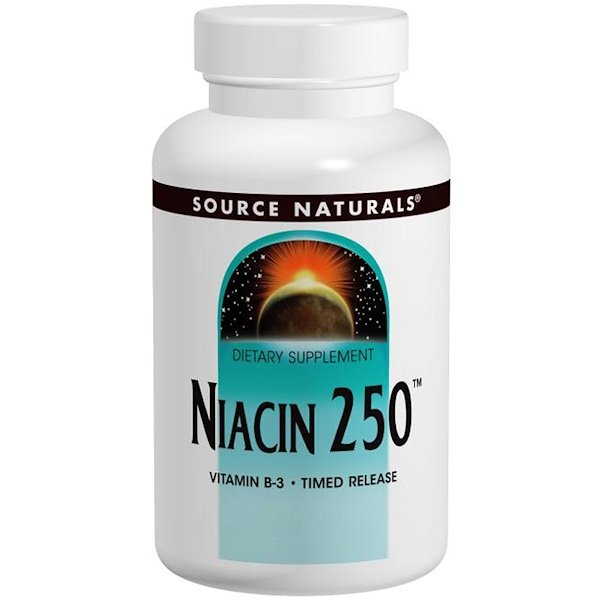 Source Naturals, Niacin 250, Time Released, 250 Tablets (Discontinued Item)