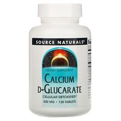 Source Naturals, D-葡萄糖二酸鈣解除毒素片,500毫克,120片