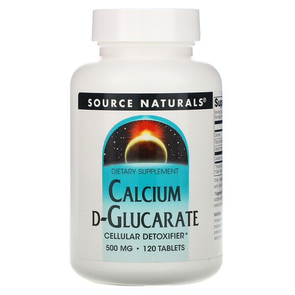 Calcium D-Glucarate, 500 mg, 120 Tablets