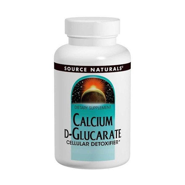 Source Naturals, Calcium D-Glucarate, 500 mg, 120 Tablets