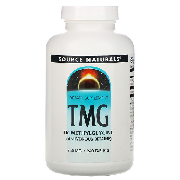 TMG, Triméthylglycine, 750 mg, 240 Comprimés
