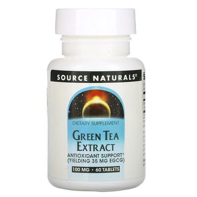 Source Naturals Экстракт зеленого чая, 60 таблеток