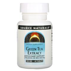Source Naturals, 綠茶提取物,100 毫克,60 片