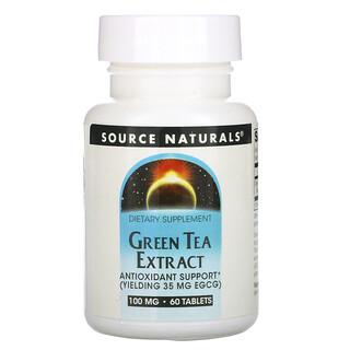 Source Naturals, Green Tea Extract, 100 mg, 60 Tablets