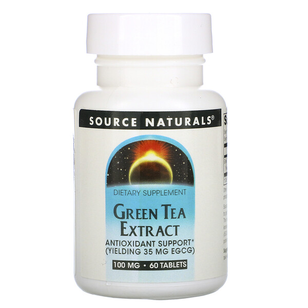 Source Naturals, Green Tea Extract, 100 mg, 60 Tablets