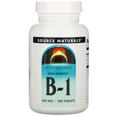 Source Naturals, 維生素B-1膳食補充片,高效,500毫克,100片
