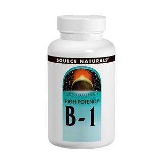 Source Naturals, B-1, 고 효능, 500 mg, 100 정
