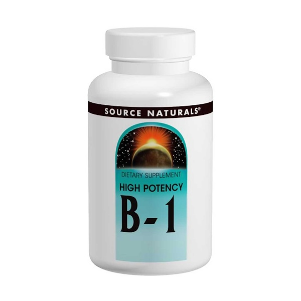 Source Naturals, B-1, High Potency, 500 мг, 100 таблеток