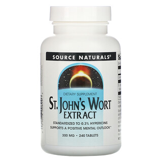 Source Naturals, Экстракт зверобоя, 300 мг, 240 таблеток