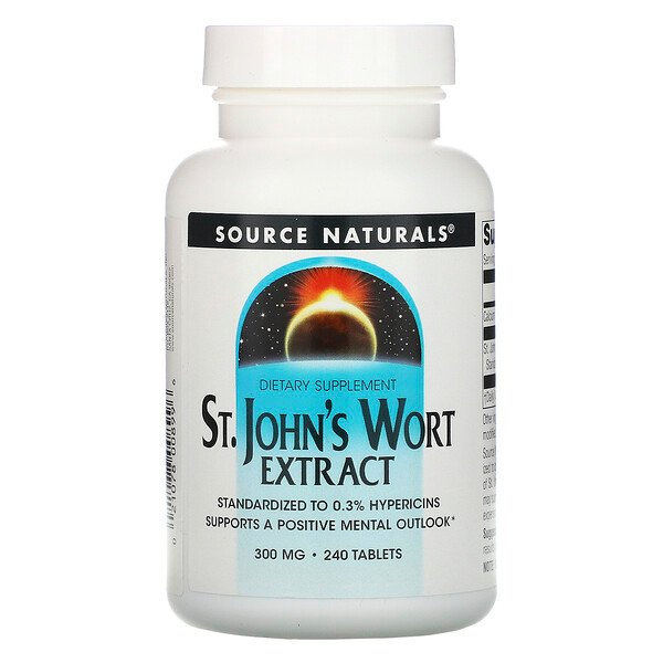 St. John's Wort Extract, 300 mg, 240 Tablets