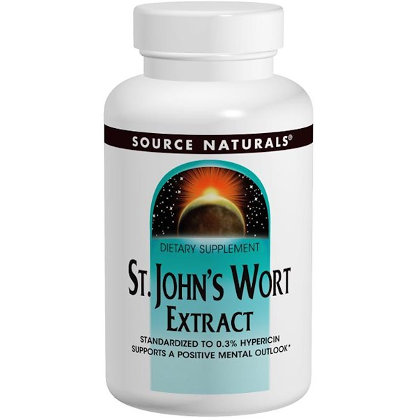 Source Naturals, St. John's Wort Extract, 300 mg, 240 Capsules (Discontinued Item)