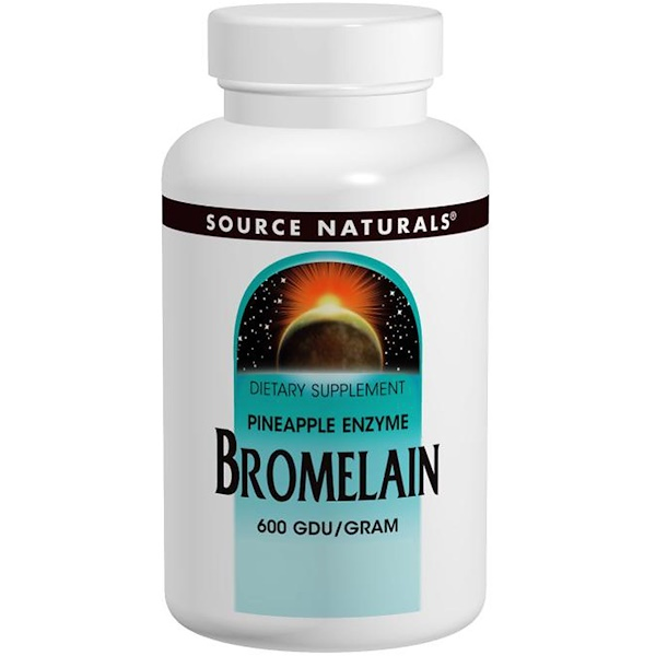 Source Naturals, Bromelain, 600 GDU/Gram, 500 mg, 120 Tablets