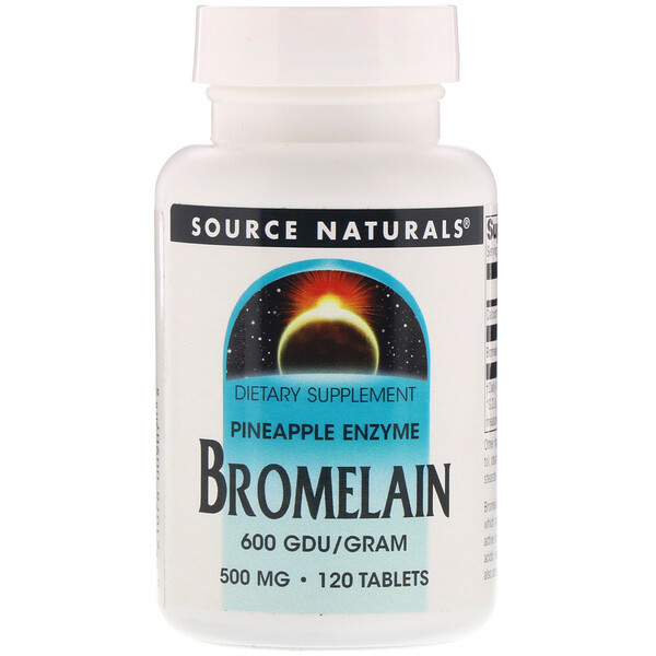 Source Naturals, Bromelain 600 GDU/g, 500 mg, 120 Tablets