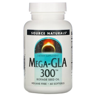 Купить Source Naturals Мега-GLA 300, 60 мягких капсул