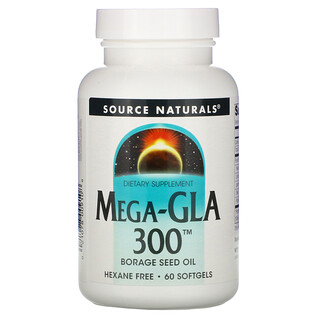 Source Naturals, حمض غاما-لينوليك - ميغا 300، 60 كبسولة هلامية