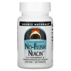 Source Naturals, 不紅臉煙酸片,500 毫克,60 片裝
