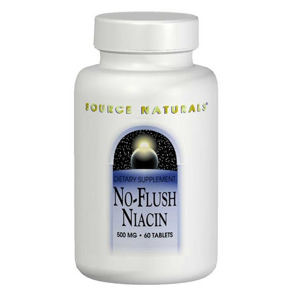 Source Naturals, No-Flush Niacin, 500 mg, 60 Tablets