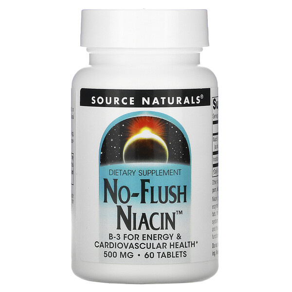 Source Naturals, Flush-Frei Nikotinsäure, 500 mg, 60 Tabletten