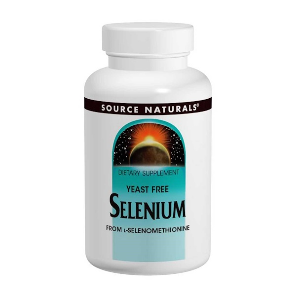 Source Naturals, Selenium, From L-Selenomethionine, 200 mcg, 120 Tablets