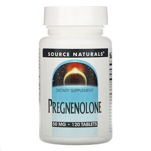 Сорс Начэралс, Pregnenolone, 50 mg, 120 Tablets отзывы
