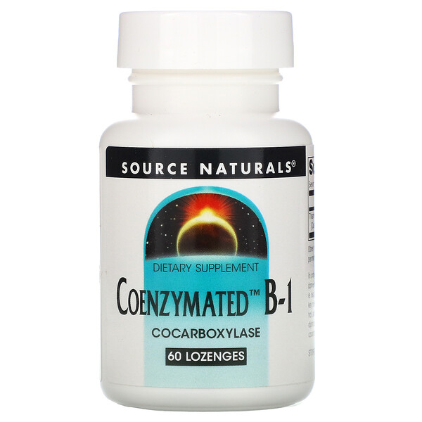 Source Naturals, Coenzymated B-1,60 粒含片