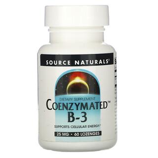 Source Naturals, Coenzymated B-3, 25 mg, 60 Lozenges
