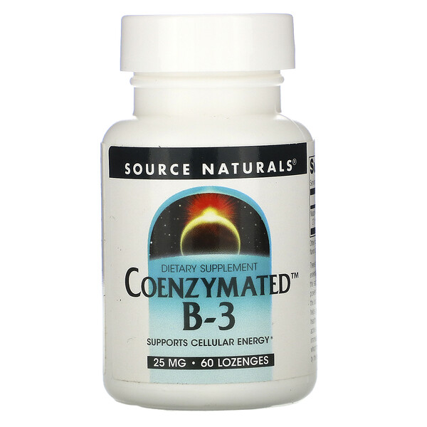 Source Naturals, Coenzymated B-3, 25 mg, 60 Lozenges