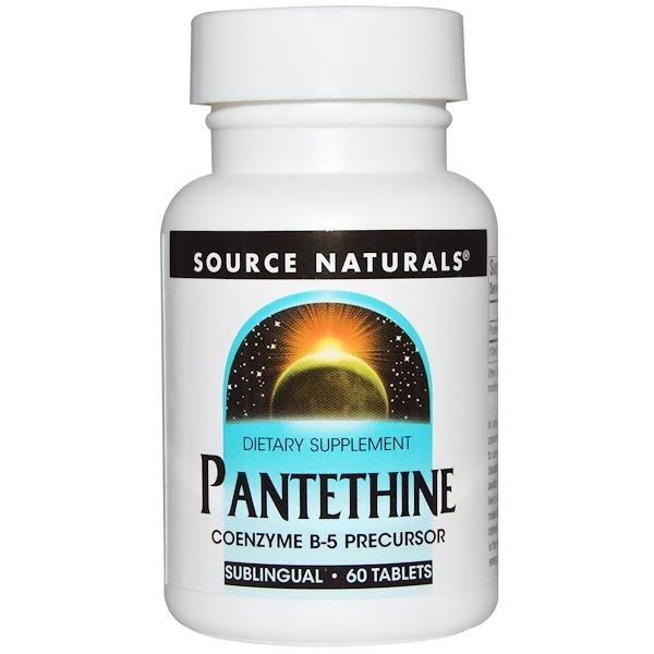 Source Naturals, Pantethine, Sublingual, 60 Tablets (Discontinued Item)