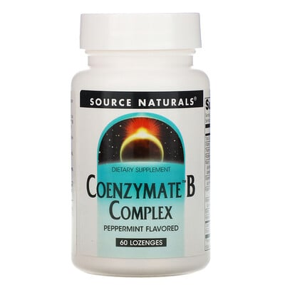 Source Naturals Coenzymate B Complex, Peppermint Flavored, 60 Lozenges