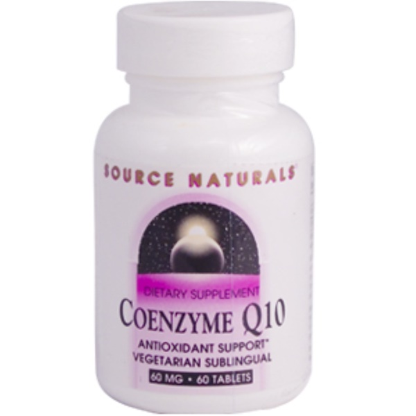 Source Naturals, Coenzyme Q10, 60 mg, 60 Tablets (Discontinued Item)
