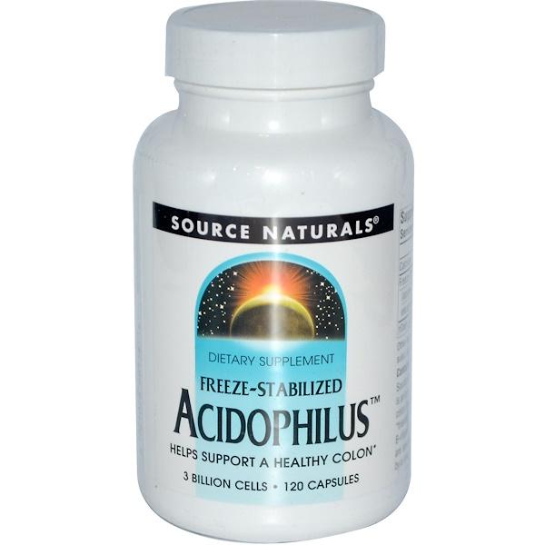 Source Naturals, Acidophilus, 3 billion cells, 120 Capsules (Discontinued Item)