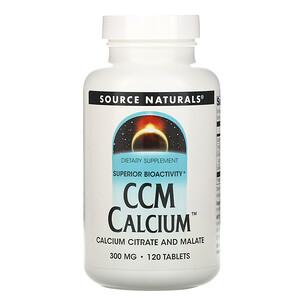 Сорс Начэралс, CCM Calcium, 300 mg, 120 Tablets отзывы покупателей