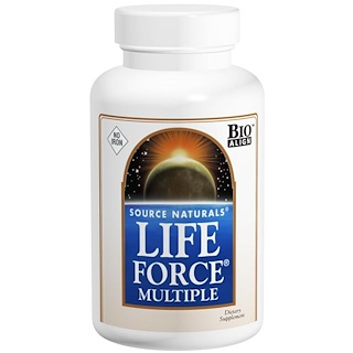 Source Naturals, Life Force Multiple, 鉄分なし, 60錠