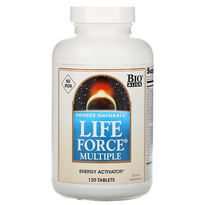 Купить Source Naturals Мультивитамины Life Force, без железа, 120 таблеток