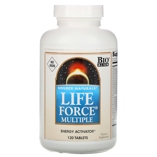 Life Force Multiple, No Iron, 120 Tablets