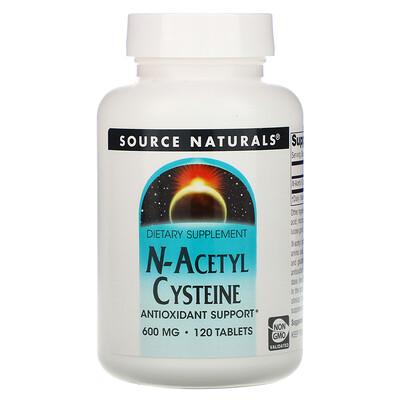 Source Naturals N-ацетилцистеин, 600мг, 120таблеток