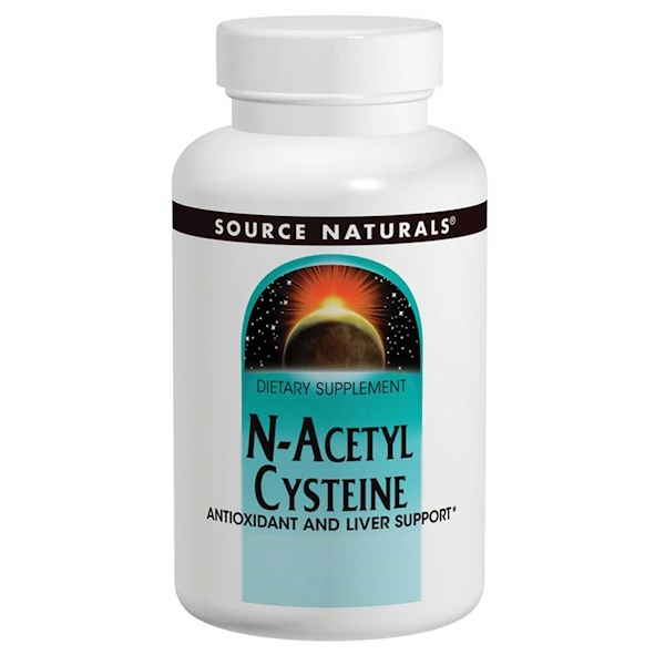 Source Naturals, N-acetilcisteína, 600 mg, 120 Tabletes