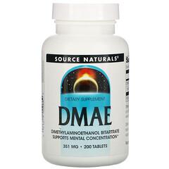 Source Naturals, DMAE,351毫克,200片