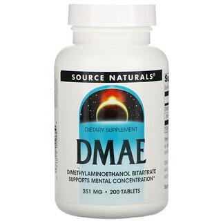 Source Naturals, ДМАЭ, 351мг, 200таблеток