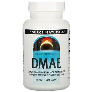 Сорс Начэралс, DMAE, 351 mg, 200 Tablets отзывы покупателей
