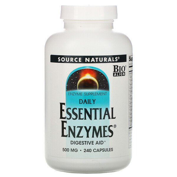 Daily Essential Enzymes, 500 мг, 240 капсул