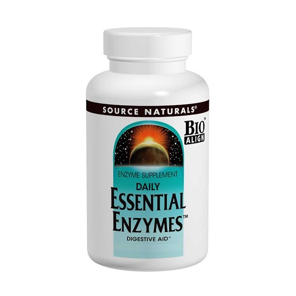 Source Naturals, Daily Essential Enzymes, 500 mg, 240 Capsules