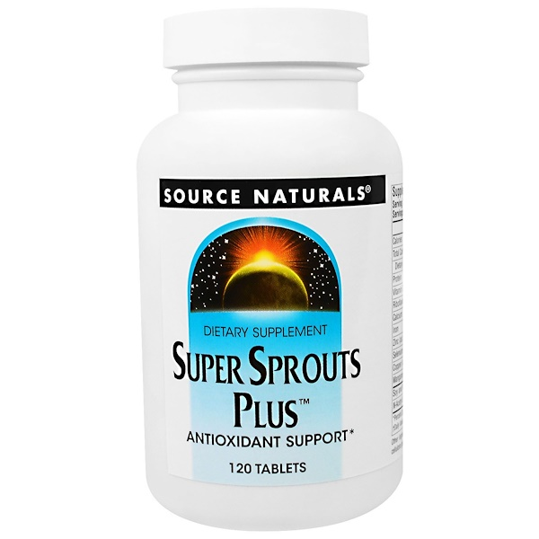 Source Naturals, Super Sprouts Plus, 120 Tablets (Discontinued Item)