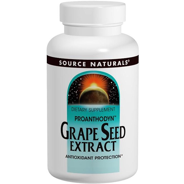 Source Naturals, Proanthodyn, Grape Seed Extract, 100 mg, 120 Tablets (Discontinued Item)