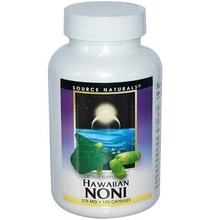 Source Naturals, Hawaiian Noni, 375 mg, 120 Capsules