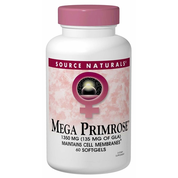 Source Naturals, Mega Primrose, 60 Softgels