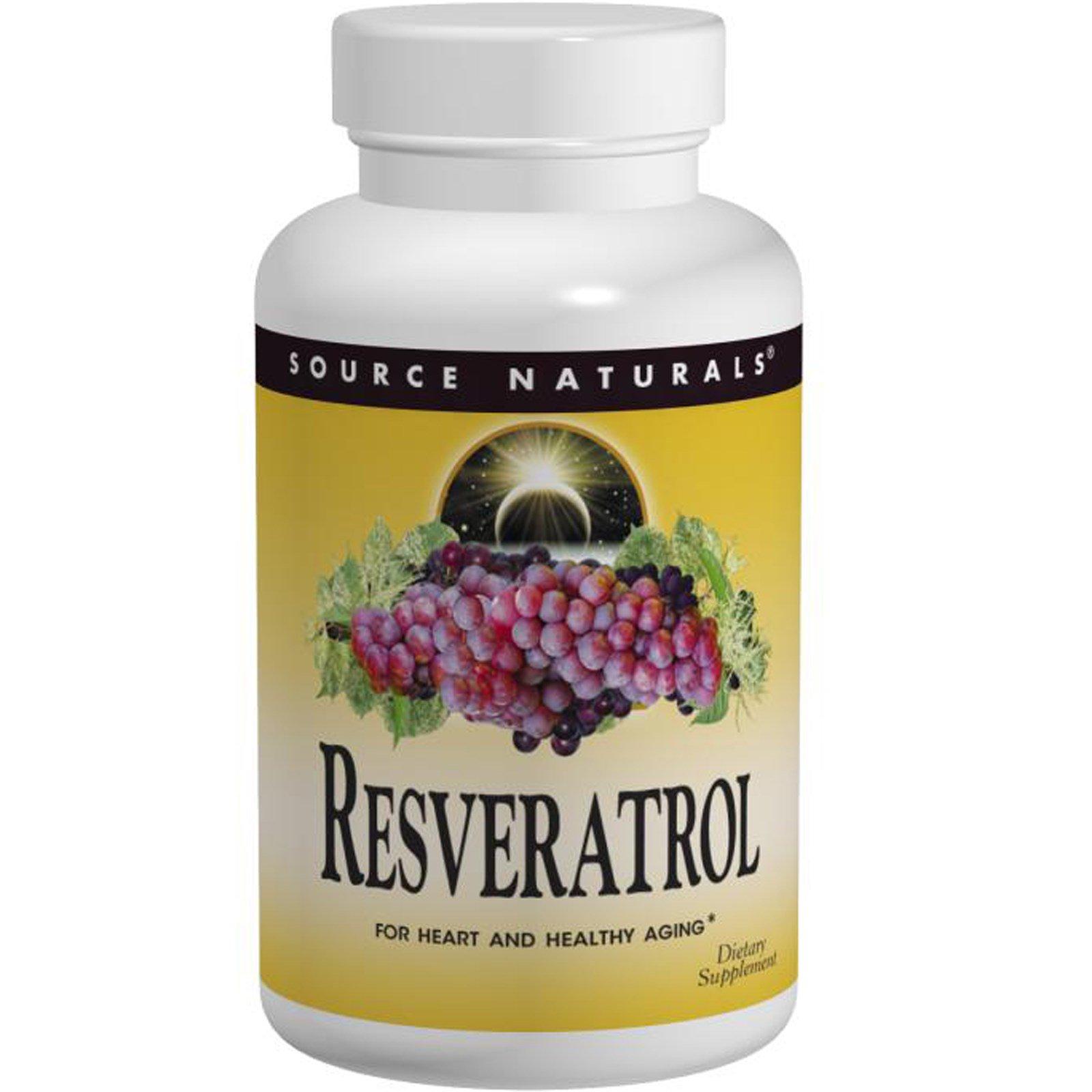 Source Naturals, Ресвератрол, 60 таблеток