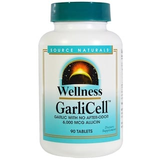 Source Naturals, Wellness, GarliCell, 6,000 mcg, 90 Tablets