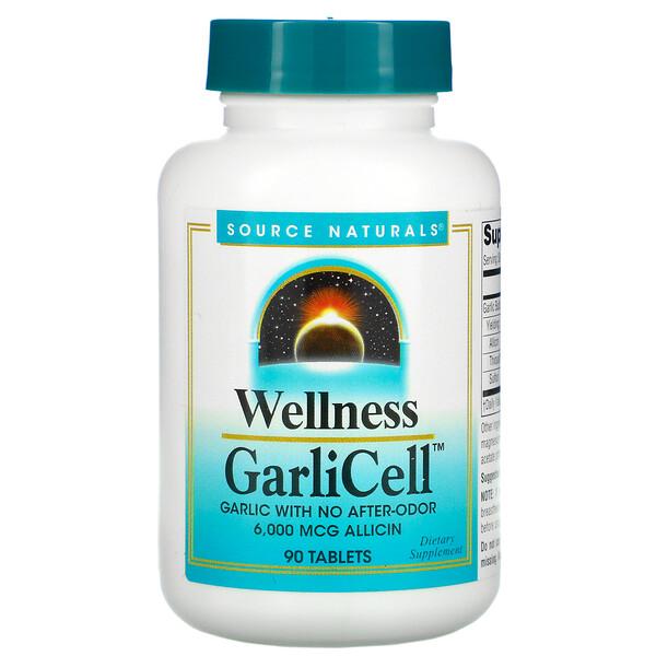 Bien-être, GarliCell, 6000µg, 90 Comprimés